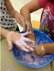 Making slime!