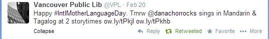 VPL's tweet