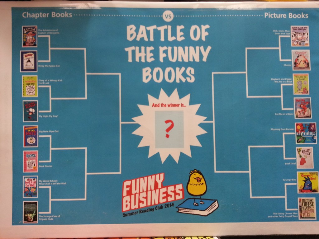 books funny reading club summer battle library bracket displays poster jbrary winter elementary fun challenge posters read simple using program