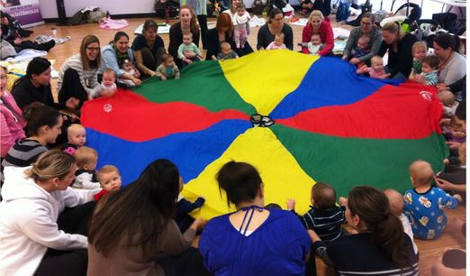 Baby Storytime Using A Parachute Jbrary