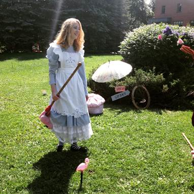 Alice playing croquet