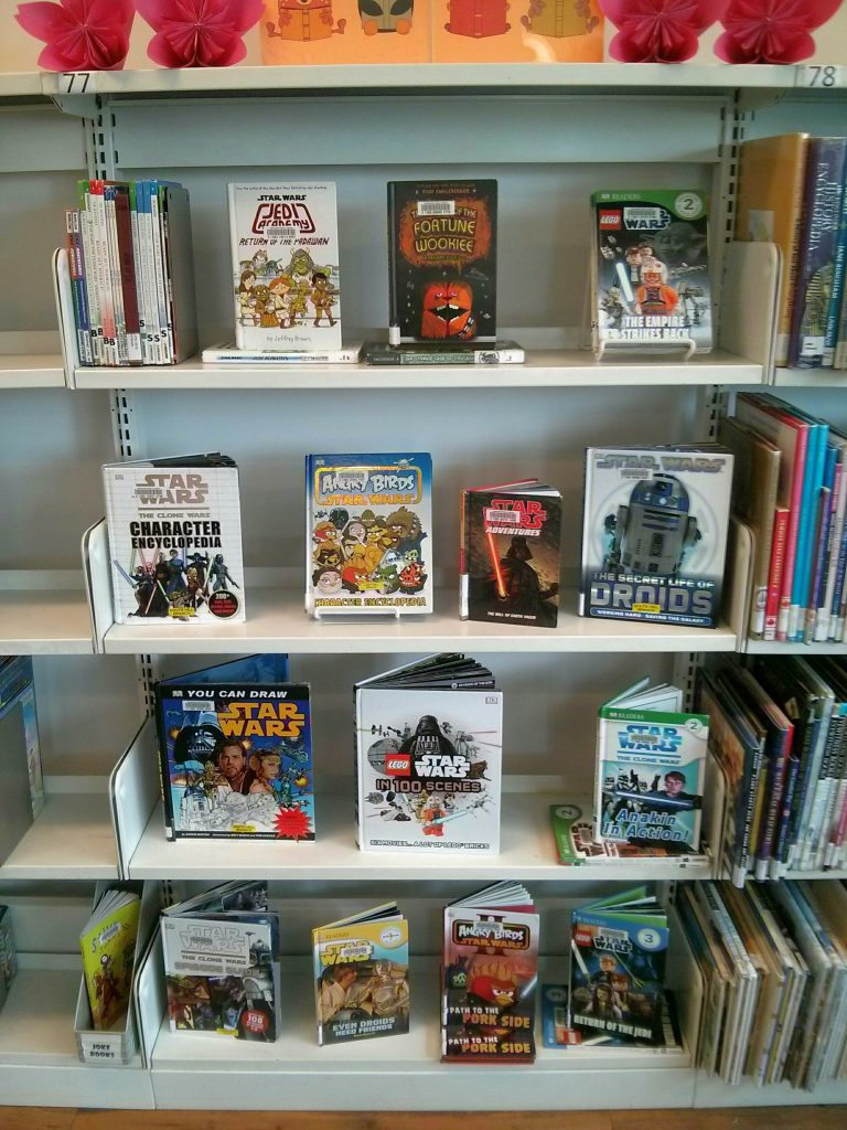 star wars book display